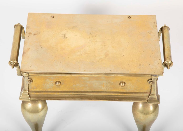 19th Century English Regency Brass Footman Stool or Side Table For Sale 1