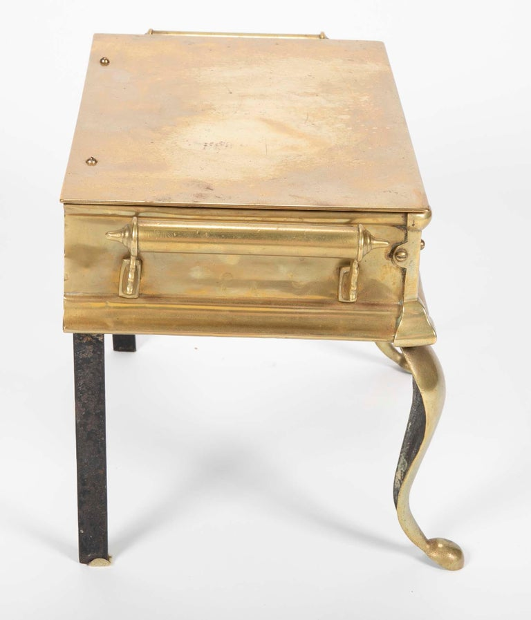 19th Century English Regency Brass Footman Stool or Side Table For Sale 4