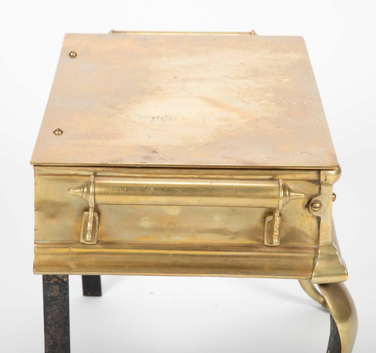 19th Century English Regency Brass Footman Stool or Side Table For Sale 6