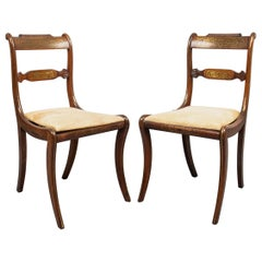English Regency Brass Inlaid Side Chairs