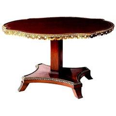 English Regency Center Table in Cuban Mahogany