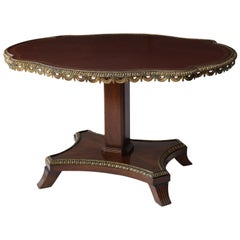 English Regency Center Table in Cuban Mahogany