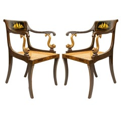 English Regency Chinoiserie Armchairs
