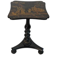 English Regency Chinoiserie Stand or Occasional Table, Mario Buatta