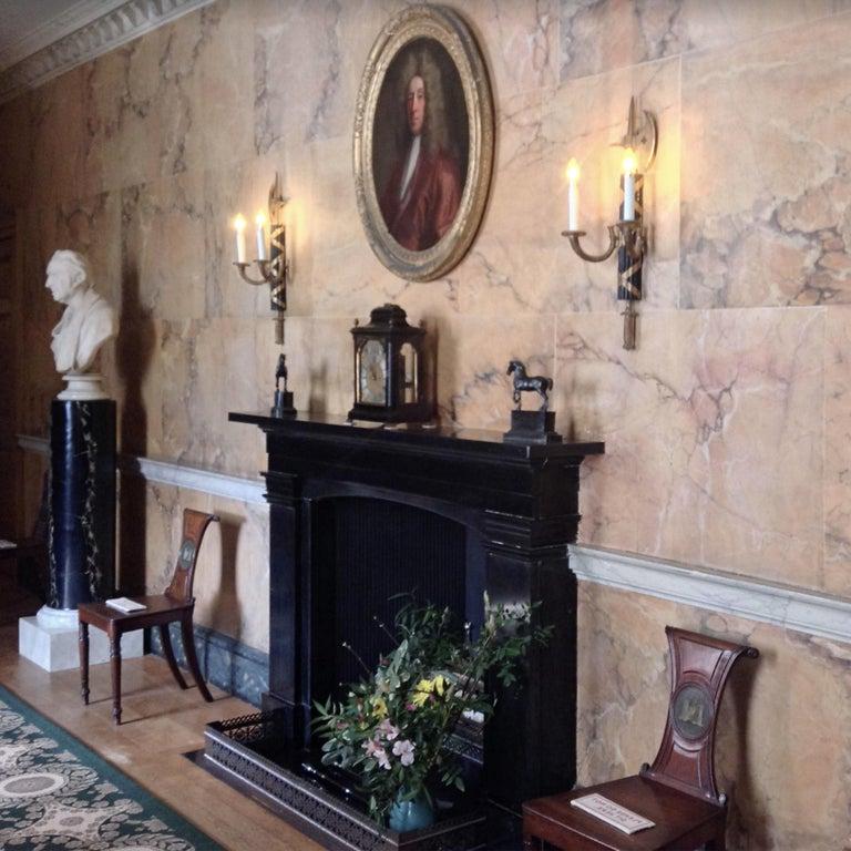 English Regency Faded Mahogany Hall Chair For Sale 1