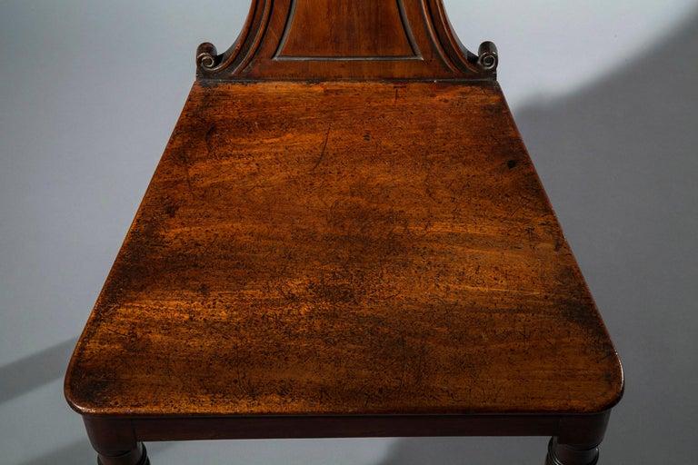 English Regency Faded Mahogany Hall Chair For Sale 3
