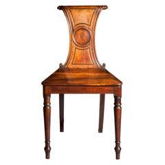 English Regency Faded Mahogany Hall Chair