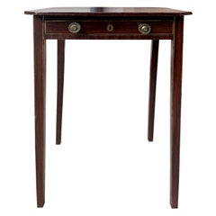 English Regency Faux Rosewood Grained and Gilt Pinstripe Table, circa 1815-1820