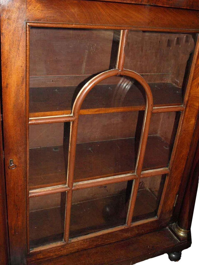 English Regency Glass Door Bookcase For Sale 1