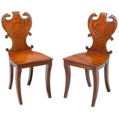 English Regency Hall Chairs, circa 1815