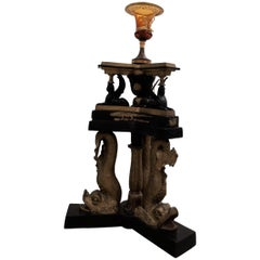 English Regency Lamp, Based on 1810 Dolphin Suite Lord Nelson Tribute Lamp