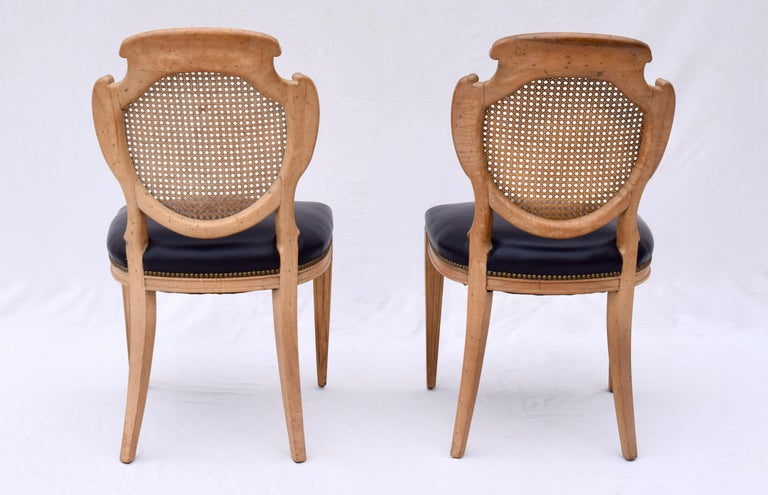 English Regency Leather and Caned Back Dining Chairs For Sale 5