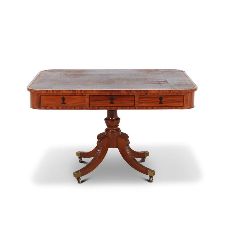 English Regency Library Table, circa 1825 For Sale 5