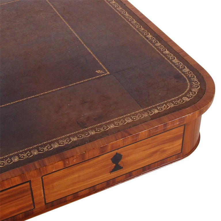 English Regency Library Table, circa 1825 For Sale 2