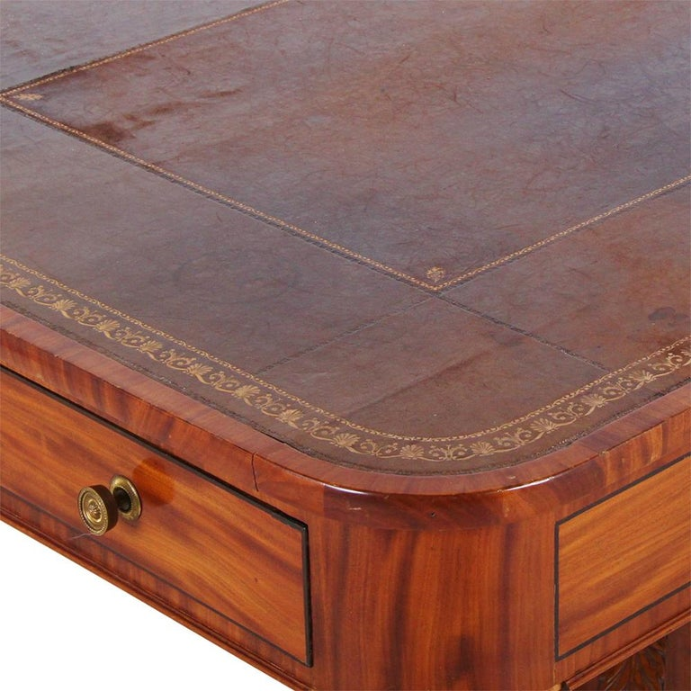 English Regency Library Table, circa 1825 For Sale 3