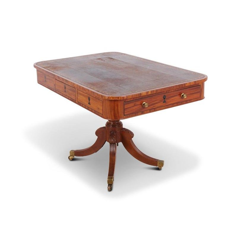 English Regency Library Table, circa 1825 For Sale 4