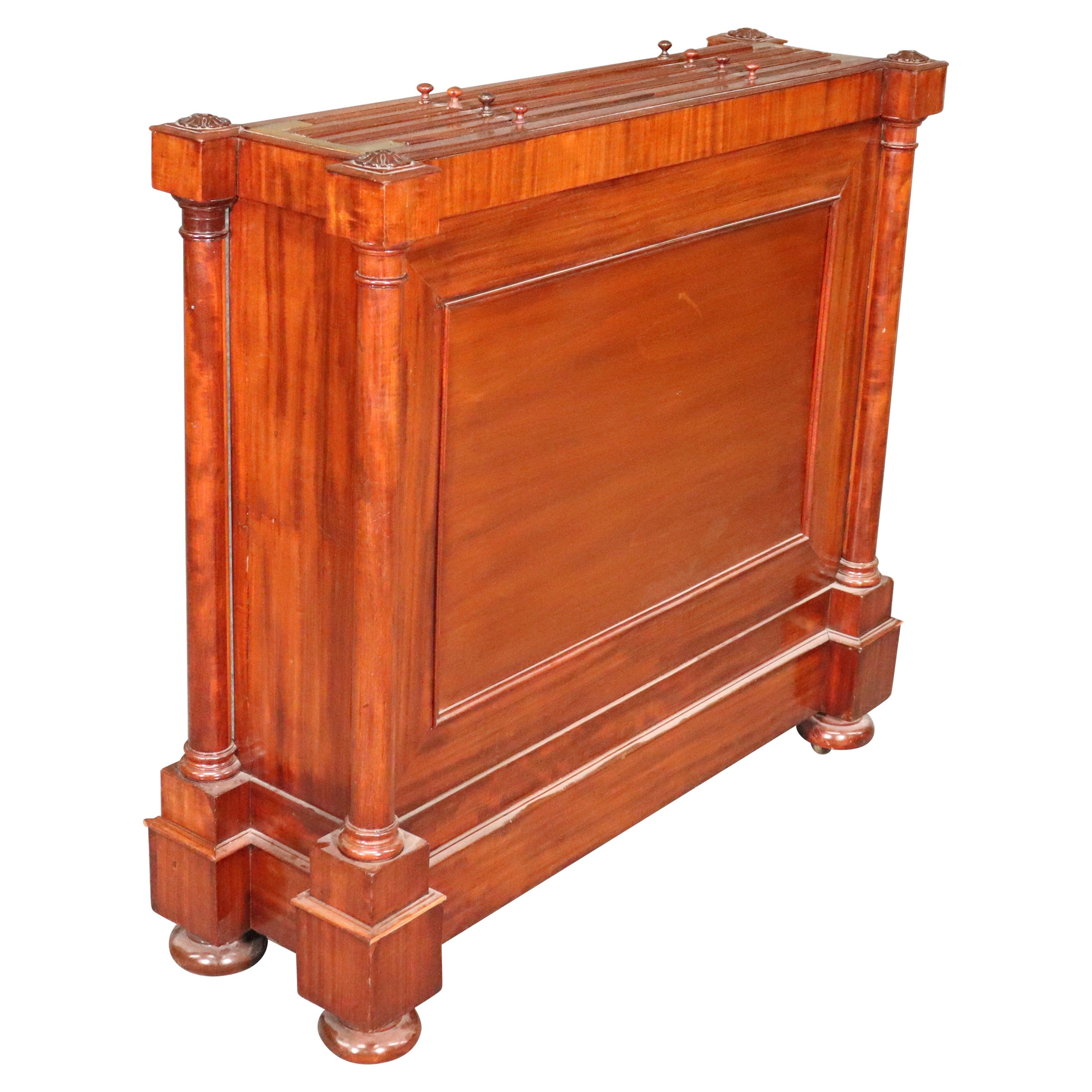 English Regency Mahogany 1820s Era Map Cabinet with Antique Maps of the World