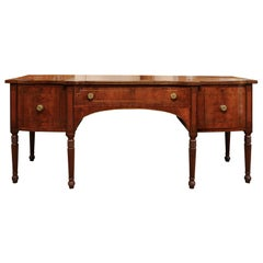English Regency Mahogany and Brass Inlaid Sideboard, Early 19th Century