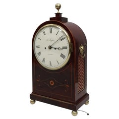 English Regency Mahogany and Inlaid Bracket Clock by Thwaites & Reed