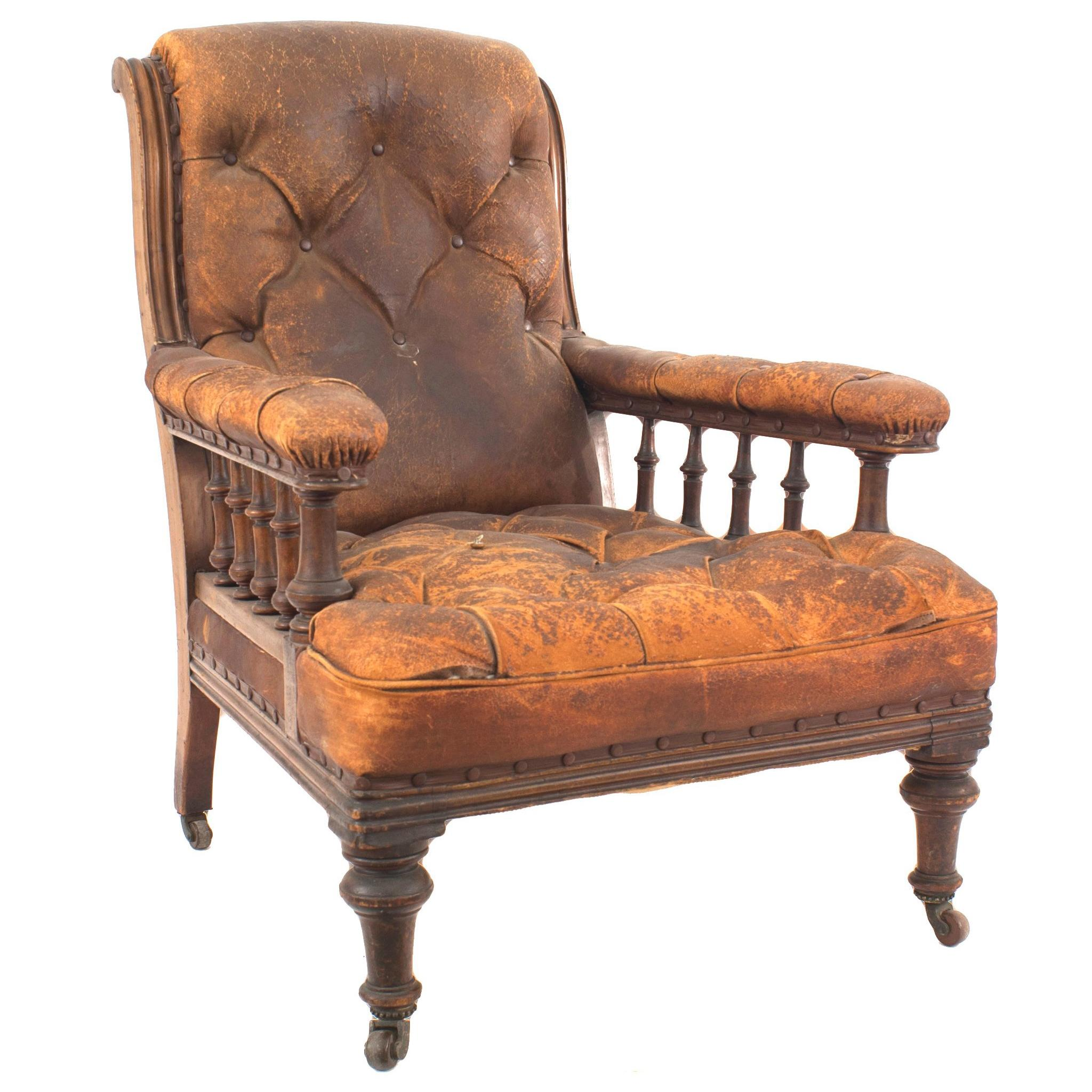 English Regency Mahogany Armchair