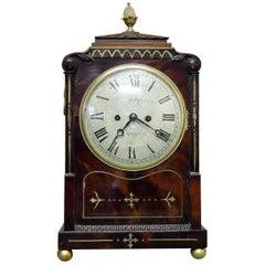 English Regency Mahogany Bracket Clock by Moore of Ipswich