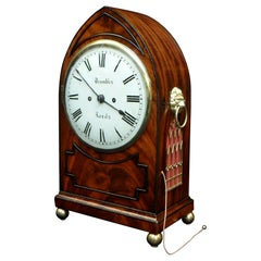 English Regency Mahogany Bracket Clock with Pull Repeat by Bayles of London