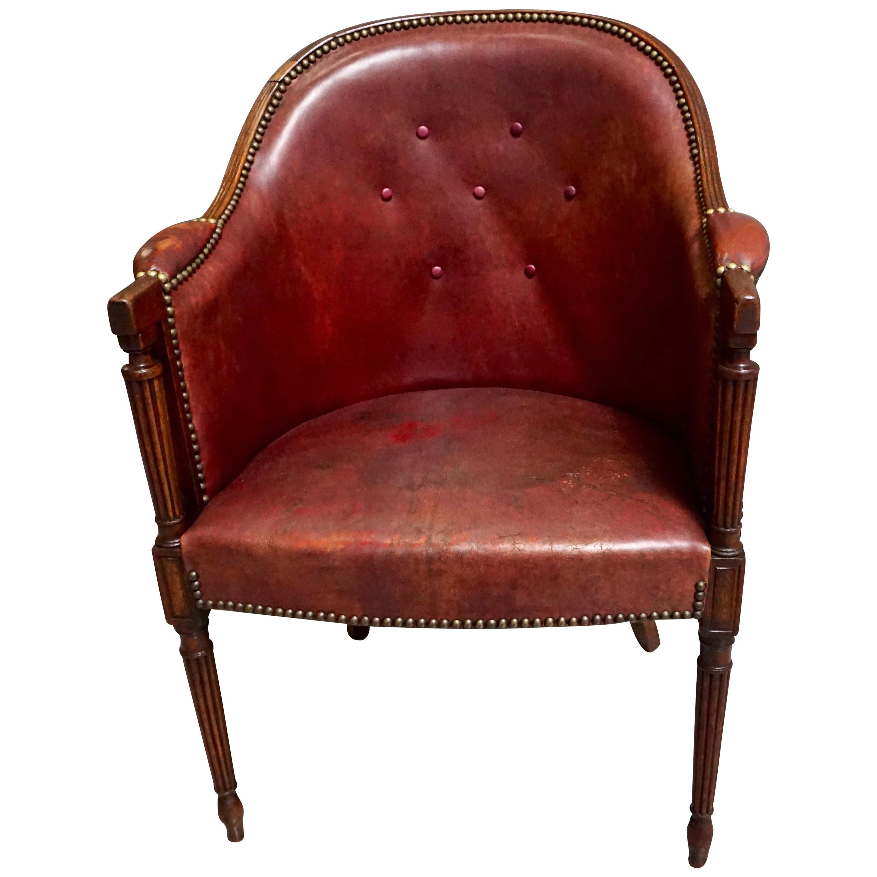 Pleasing Leather Tub Chairs 67 For Sale On 1Stdibs Ibusinesslaw Wood Chair Design Ideas Ibusinesslaworg