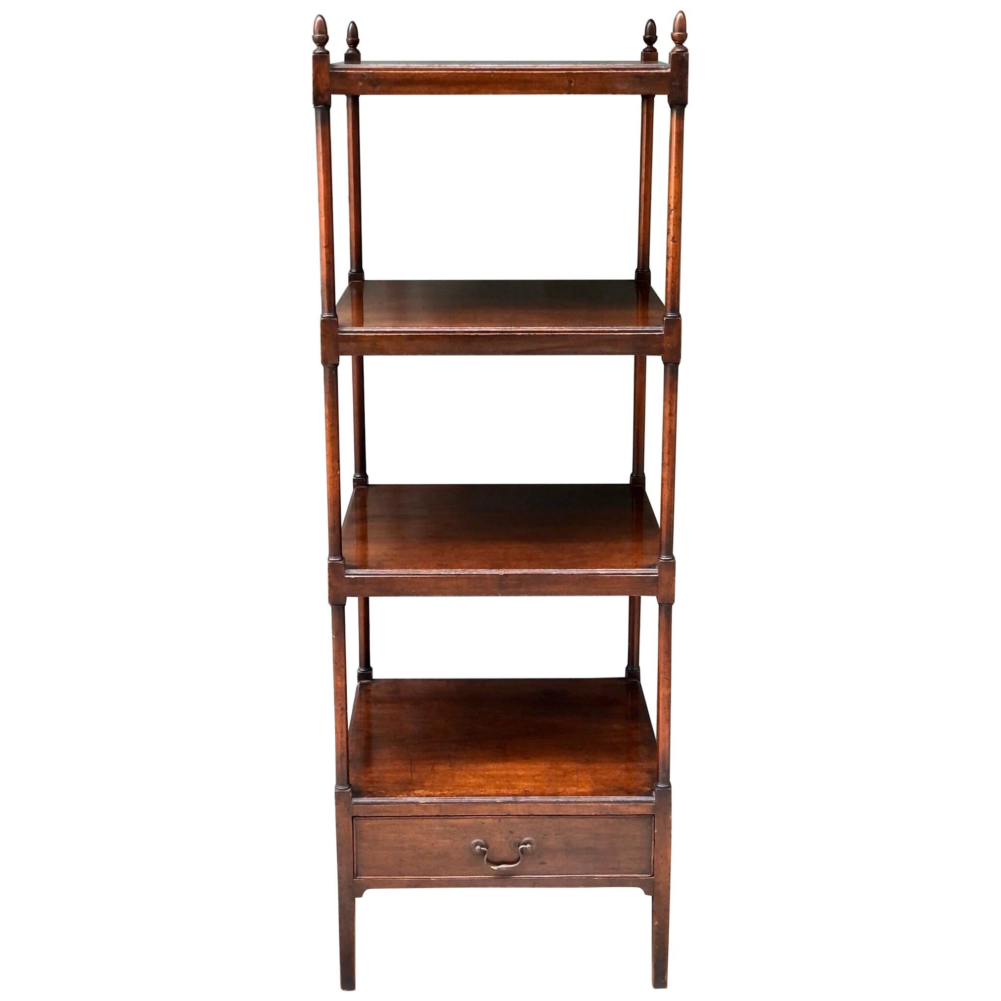English Regency Mahogany Library Stand / Étagère, Early 19th Century