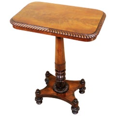 English Regency Mahogany Oblong Occasional Lamp Table