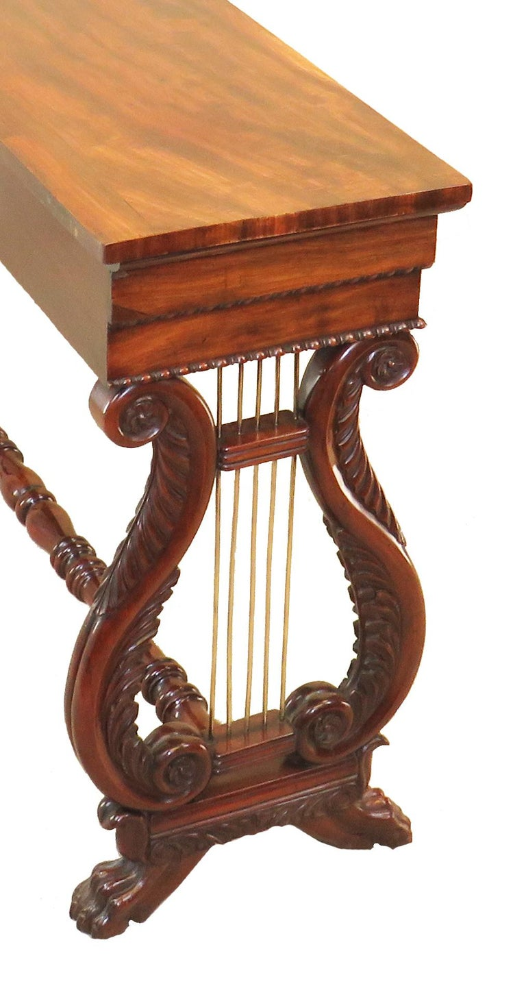 English Regency Mahogany Small Antique Console Table For Sale 6