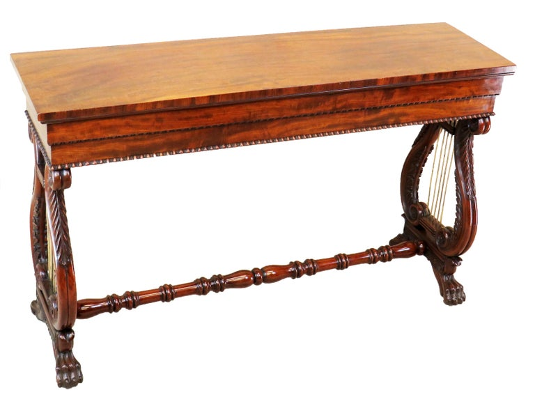English Regency Mahogany Small Antique Console Table For Sale 2