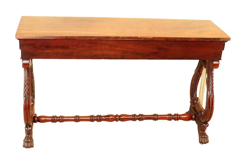 English Regency Mahogany Small Antique Console Table For Sale 4