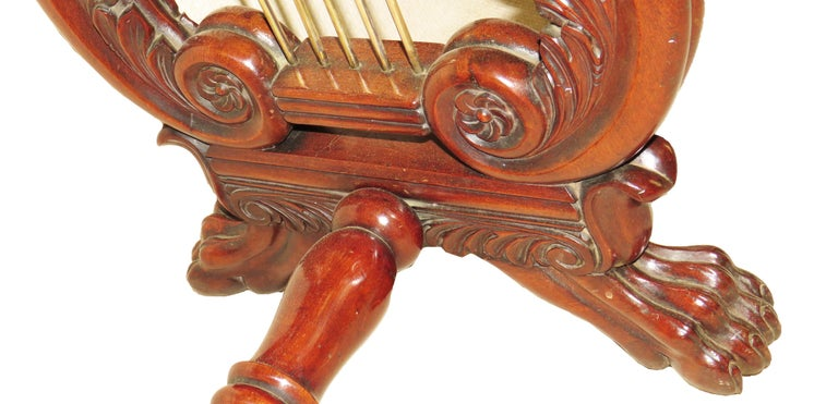 English Regency Mahogany Small Antique Console Table For Sale 5