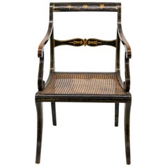 English Regency Painted Armchair