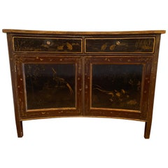 English Regency Painted Japanned Cabinet, circa 1810