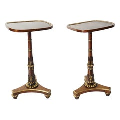 English Regency Parcel-Gilt Rosewood Side Tables, Morel & Seddon, circa 1828