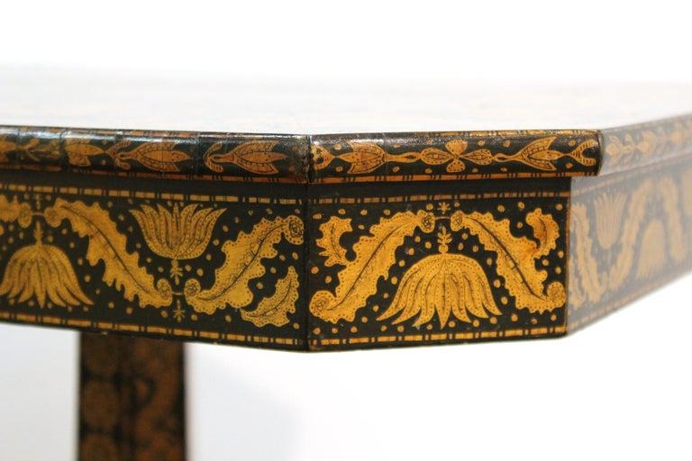English Regency Penwork Table on Tripod Base For Sale 7
