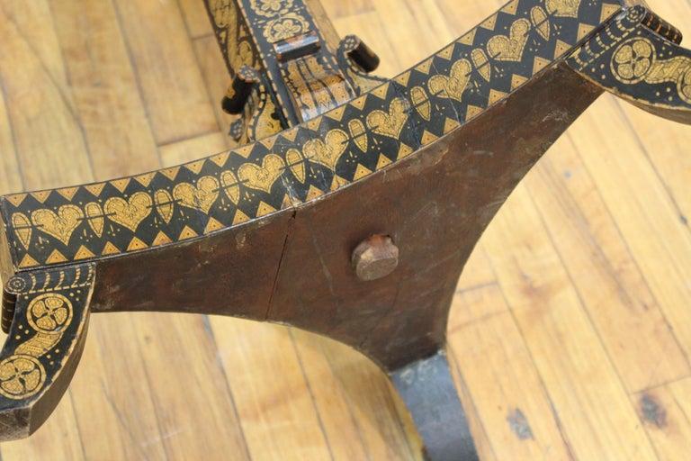 English Regency Penwork Table on Tripod Base For Sale 9