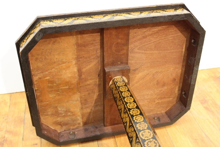 English Regency Penwork Table on Tripod Base For Sale 10