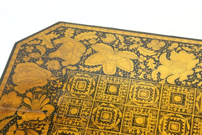 English Regency Penwork Table on Tripod Base For Sale 1