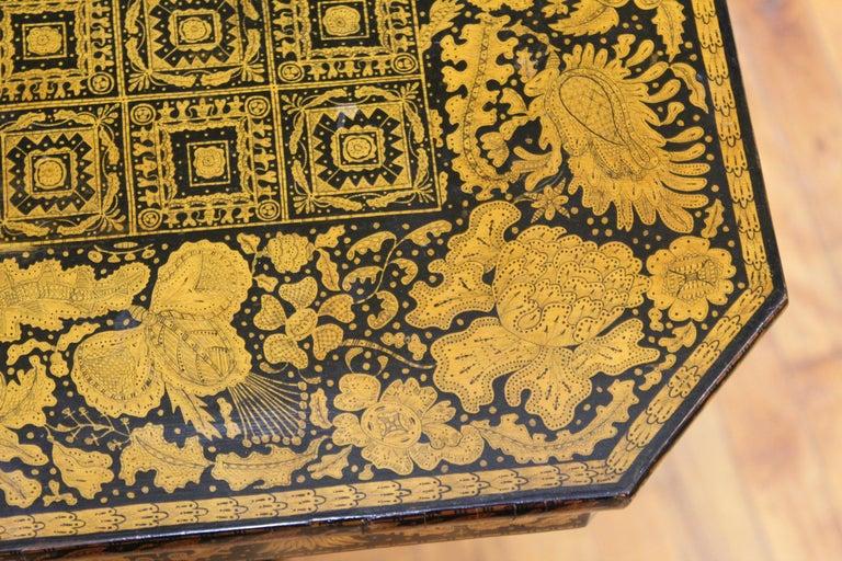 English Regency Penwork Table on Tripod Base For Sale 2