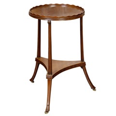 English Regency Period 1820s Mahogany Guéridon Table with Pie Crust Tray Top