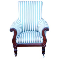 English Regency Period 19th Century Library Armchair