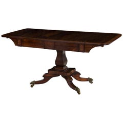 English Regency Period Antique Rosewood Sofa Table, circa 1820-1840