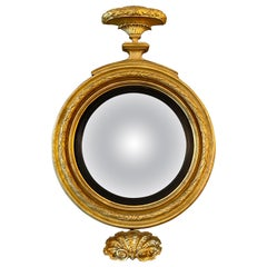 English Regency Period Gilt Convex Mirror