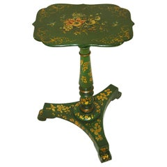 English Regency Period Hand Painted Pedestal Side Table