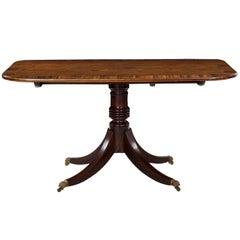 English Regency Period Mahogany & Coromandel Antique Breakfast Table, circa 1820