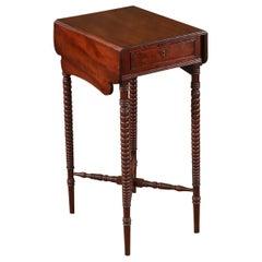 English Regency Period Small Mahogany Drop Leaf Table, circa 1820