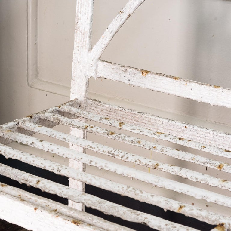English Regency Period Wrought Iron Bench For Sale 6