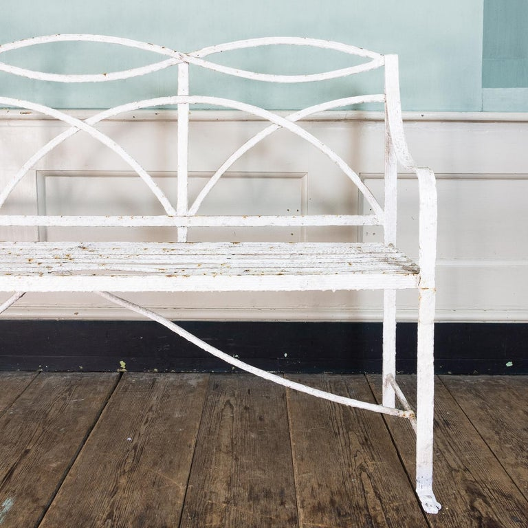 English Regency Period Wrought Iron Bench For Sale 2